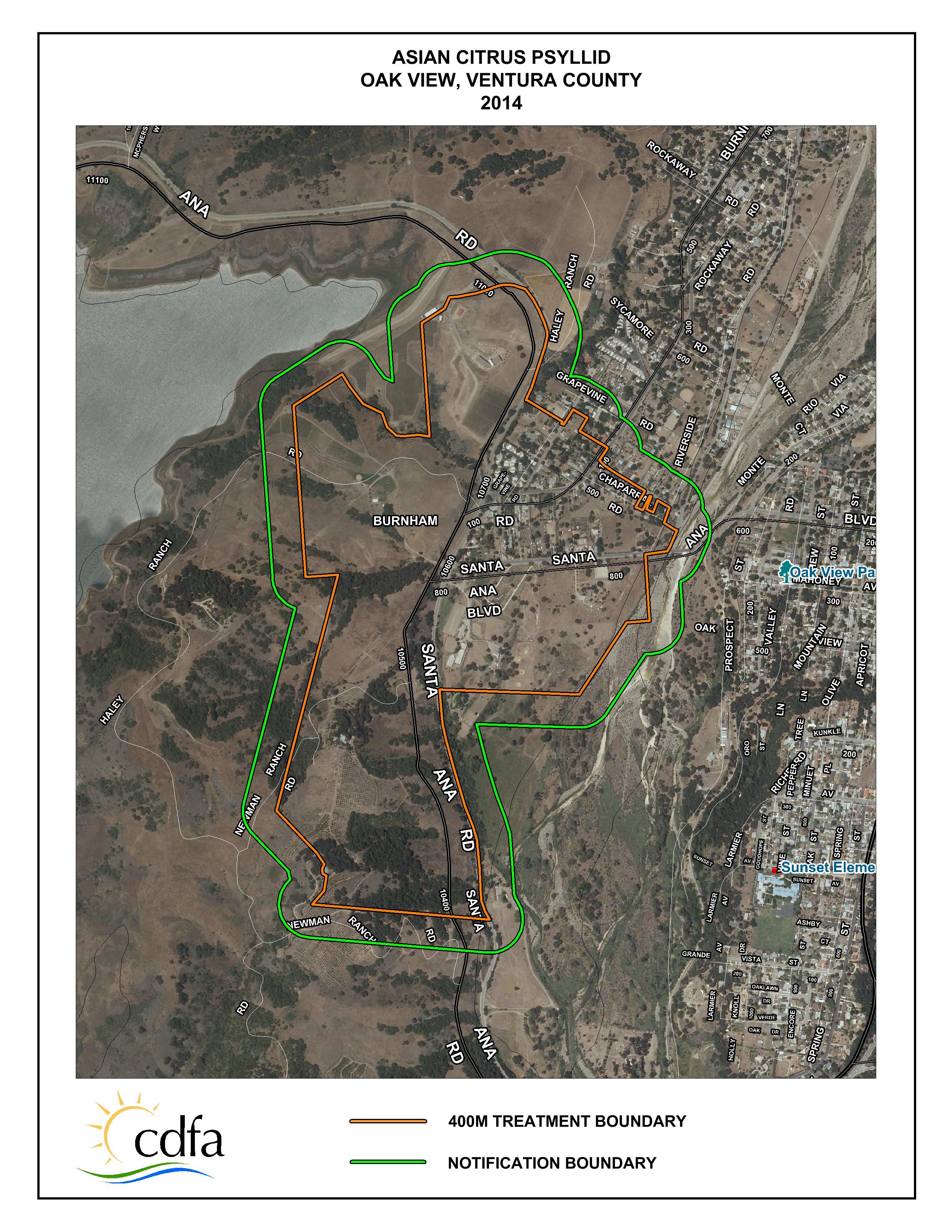 Oak View Map